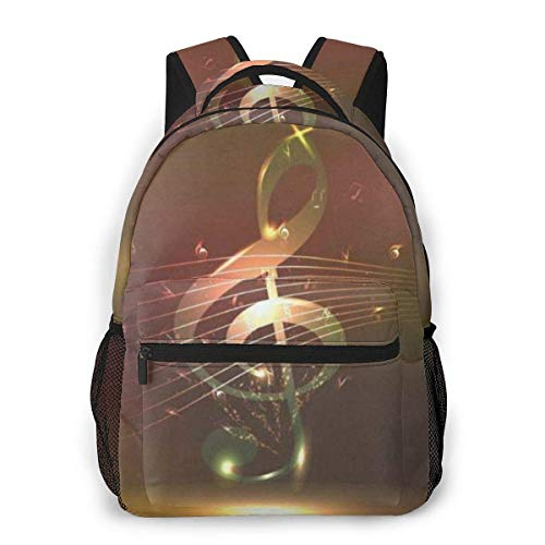 Lawenp Colorful Music Casual Backpack For School Outdoor Travel Big Student Fashion Bag