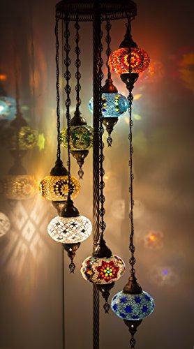lampada da terra orientale Handmade Turco Marocchino Arabico Orientale Boemia Tiffany Stile Mosaico di Vetro Colorato Lampada Da Terra Lampade Decorazione Casa Disegno Autentico