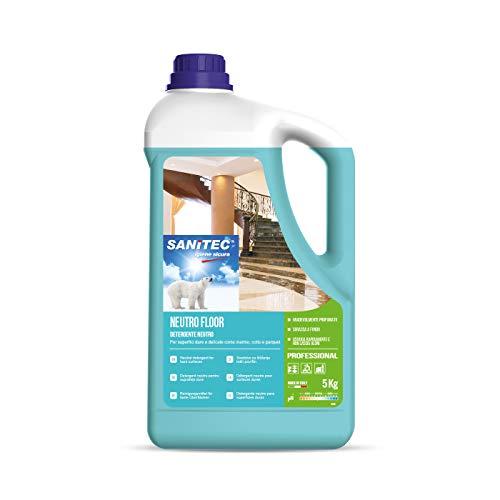 Sanitec Neutro Floor, Detergente Neutro Pavimenti e Superfici, 5 kg