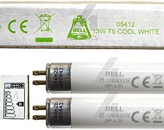 Bell Lighting 05412 Lot de 2 tubes fluorescents T5, 13 W, 525 mm, blanc froid, 4 000 K, avec culot G5