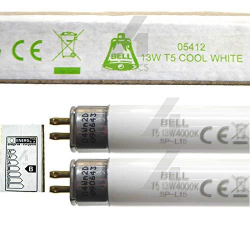 Bell Lighting Leuchtstoffröhre 05412, T5, 525 mm, Kaltweiß, 4000 K, G5-Fassung, 13 W, 2 Stück