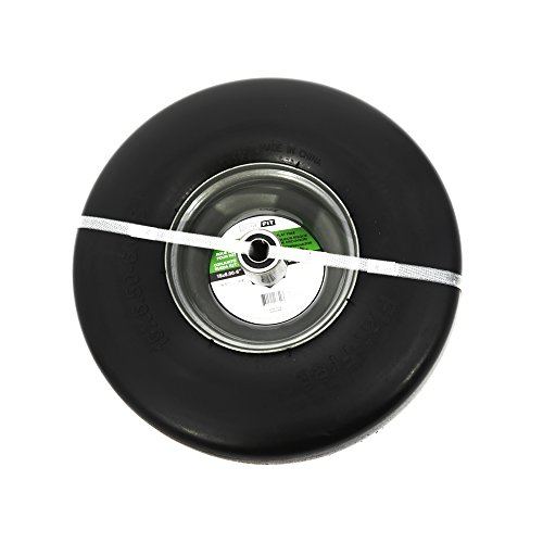 """SureFit 15"""" Front Solid Wheel Tire Assembly Smooth Tread for Universal Zero-Turn Mowers 15x6-6"""