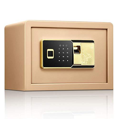 Lwieui Cajas Fuertes Biométrico de Huellas Dactilares Ocultos Caja Fuerte de Pared for Ministerio del Hotel joyería Efectivo A Salvo (Color : Gold, Size : 25x35x25cm)