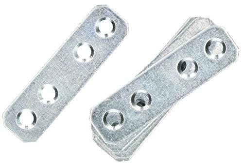 KOTARBAU Lochplatten 60 x 16 mm Verzinkt Silber Flachverbinder Holzverbinder Innen – Außenbereich Lochplatte Stahlverbinder Lochblech Flacheisen (100)