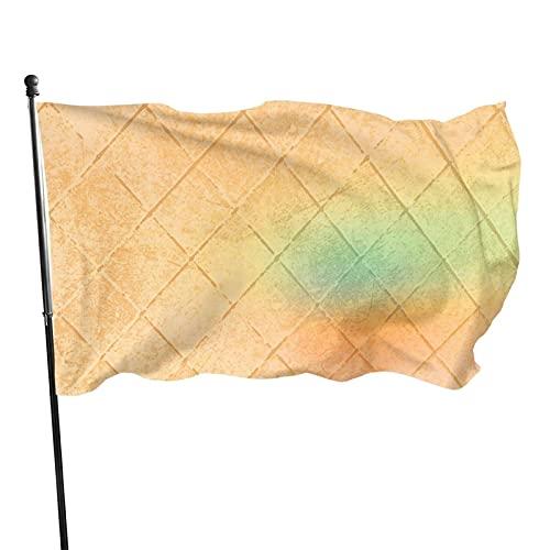 Bandera de jardín geométrica dorada para interior y exterior, 3 x 5 pies, banderas de playa duraderas y resistentes a la decoloración con encabezado, fácil de usar