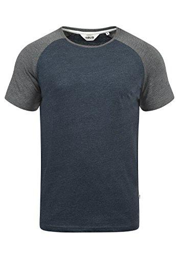!Solid Bastian Herren T-Shirt Kurzarm Shirt Mit Rundhalsausschnitt, Größe:L, Farbe:Blue Grey Melange (G8991)