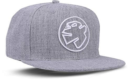 Rebel by Nature RC1 - Snapback Cap Logo Mütze Unisex Kappe Hat Sport Baseball 100% Acryl - Collection No1-6Panel ORIGINAL Rebel (Concrete-Grey)