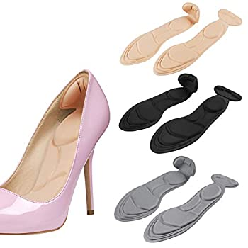 2020 New Heel Insoles Shoe Insoles Heel Cushions Sponge Shoes Pads with High Heel Inserts for Loose Shoes Metatarsal Pain Arch Pain Foot Pain Heel Sore and Heel Spurs  Women 4.5-9.5