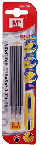 MP PE172N - Pack de 3 recambios para bolígrafos borrable