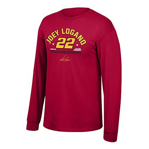 Elite Fan Shop Joey Logano Men's Fan Favorite Arched Name Cotton Long Sleeve Tee, Large