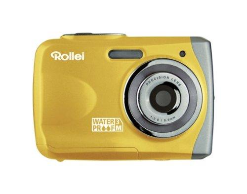 Rollei Sportsline 50 Digitalkamera (5 Megapixels, 8 - Fach digital Zoom, 6,10 cm (2,4 Zoll) Display, Wasserdicht bis 3 Meter) gelb