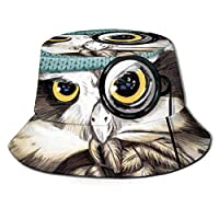 Flat Top Breathable Bucket Hats Cap Unisex Pirate Owl Bucket Hat Summer Fisherman's Hat