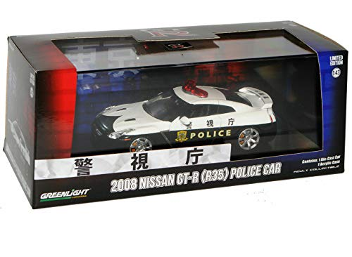 GREENLIGHT 1:43SCALE MIJO EXCLUSIVES - 2015 NISSAN GT-R (R35) POLICE CAR