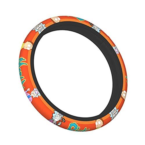 Elastic Steering Wheel Cover for Man Women, Universal 15inchNeoprene Breathable Durable Steering Wheel Protector Anti Slip and Sweat Absorption Car Steering Wheel Accessories Fit Trucks, SUV, Van