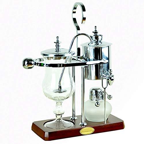 Feixunfan Siphon Kaffeemaschine Edelstahl Siphon Kaffeemaschine Haushalt Mühle Set für Zuhause Coffee Shop für Kaffee und Tee, glas, silber, 35.5x10cm