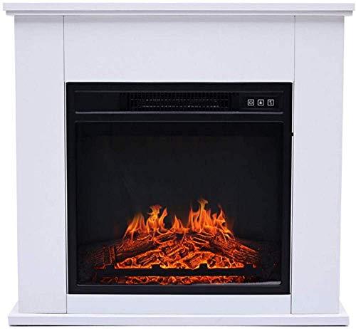 Living Equipment Suite con Chimenea eléctrica Chimenea Fuego eléctrico Calentador de repisa de Chimenea Independiente Suite Brick Surround con Control de termostato Ajustable, Sistema de Apagado de