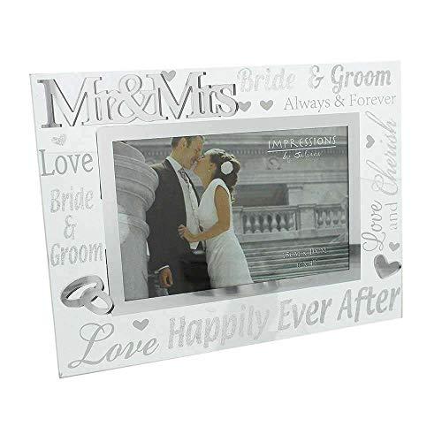 Juliana 3D Words Mr & Mrs 6'x4' Glass Mirror Wedding Day Photo Frame WG60864