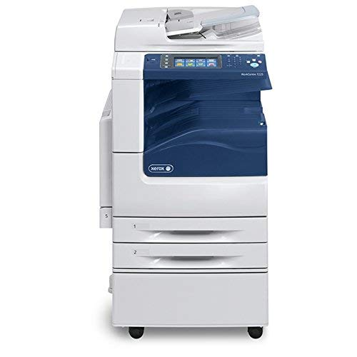Xerox WorkCentre 7225 Tabloid-size Color Multifunction Printer - Copy, Print, Email, Scan, Internet Fax, Duplex, 2400 x 600 dpi, 25 ppm, 60K Duty Cycle (Renewed)