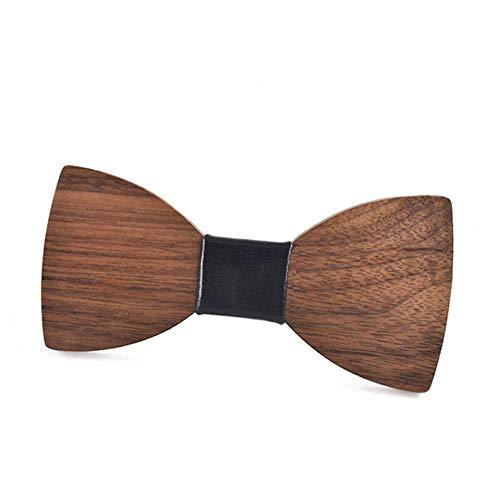 Pajarita de hombre Corbatas de lazo de madera de nogal natural ...