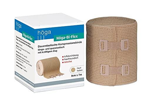 Höga Bi-Flex Sportbinde,dauerelastische Kompressionsbinde längs- und quer elastisch - 8 cm x 7 m gedehnt