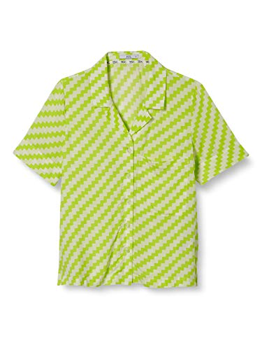 edc by Esprit Damen 040CC1F305 Bluse, 323/CITRUS Green 4, M