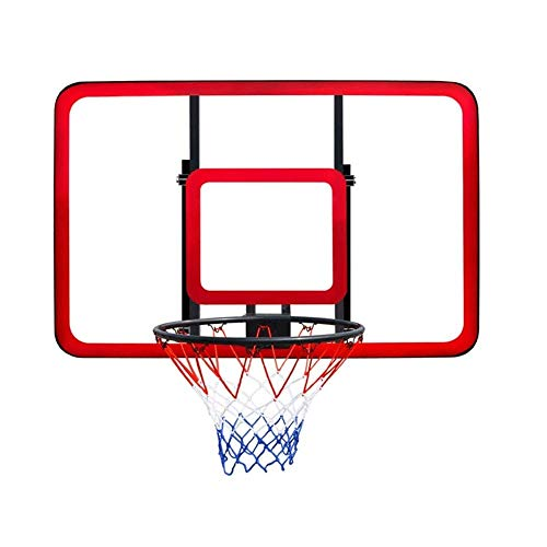 CHENXU Wall Mounted Basketball Hoop Set Solid Plus Spring Transparent Backboard,Teens Basketball Board Wall Mounted Backboard,Net Set Hanging Basketball Hoop Outdoor Sport for (121x81cm)