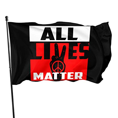 shenguang All Lives Matter,Raise Your Voice Against Racism 3x5 Foot Flags Garden Flags American Polyester Flag Patriotic Outdoor Decoration
