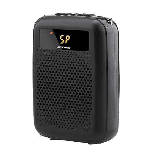 Voice-Verstärker Tragbare Wired Lautsprecher Verstärker Stimme, Wired Headset Mini-Mikrofon, FM Radio GAONAN
