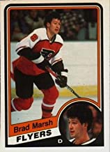 1984 O-Pee-Chee Regular (Hockey) card#163 Brad Marsh of the Philadelphia Flyers Grade Excellent to Excellent Mint