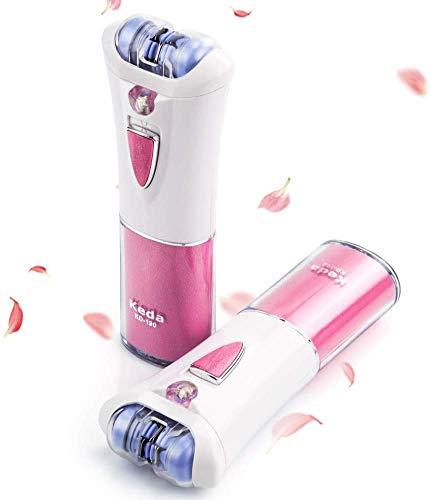 ULTPEAK Epilierer Elektrorasierer für Damen Mini-Epilierer Haarentferner mit Licht, Epilierer Gesichtsepilierer & Körperhaarentfernung, Kabelloser Epilierer für Bikini intimbereich Arm Haarentfernung