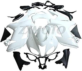 ZXMOTO Unpainted Motorcycle Fairing Kit for 2007 2008 Kawasaki Ninja ZX6R/636 Injection Mold ABS Plastic Bodywork Fairings