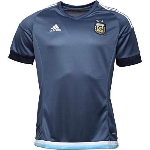 adidas Herren AFA Argentina Away Fußball Trikot Navy (L Zu Passform Brustumfang 112-121cm)