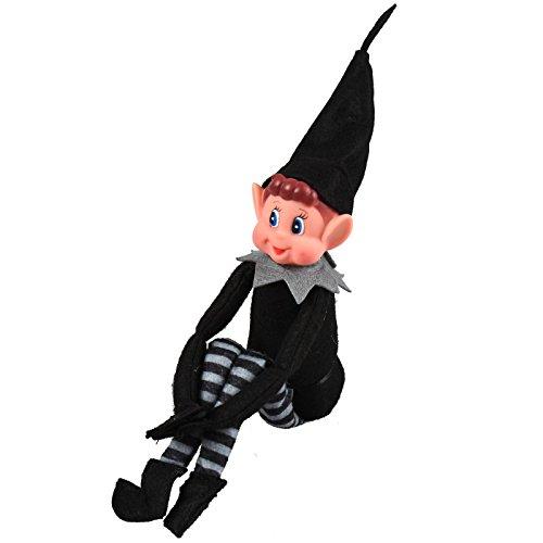 ASAB Plüschfigur für Jungen, Mädchen, blaues Auge, schwarz-graues Kostüm, Standard