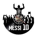 JXWH Vinyle Horloge Murale Joueur de Football Horloge imparable Puissance légende de Football Cadeau aux Fans