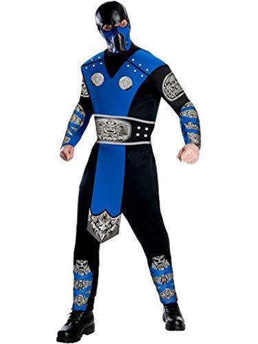 Mortal Kombat Sub-Zero Kostüm und Maske für Erwachsene - Mehrfarbig - Large
