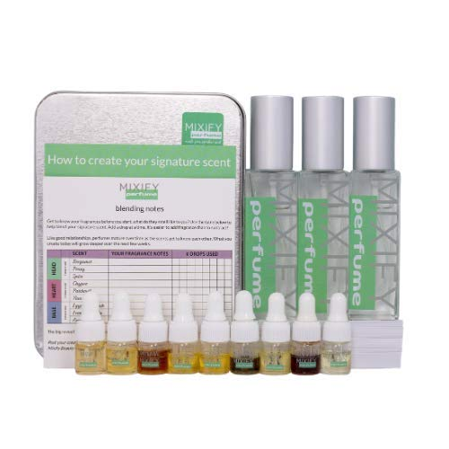 Mixify Beauty Create your own Indie Perfume Kit, 3 Bottle Set, Essential and Fragrance Oils