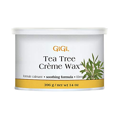 GiGi Tea Tree Creme Hair Removal Soft Wax with Soothing Formula, 14 oz