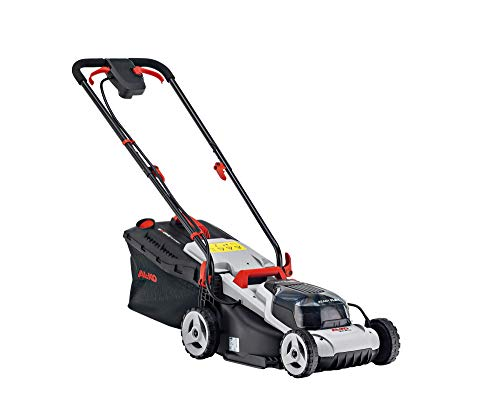 AL-KO Easy Flex 34.8 Cordless Lawnmower Package 113540. 40 V (2 x 20V) /2.5 Ah Li-Ion Batteries & Charger Included, Ideal for lawns up to 200 m², Adjustable Height 25-75mm, 34 cm Cutting Width, 20 V