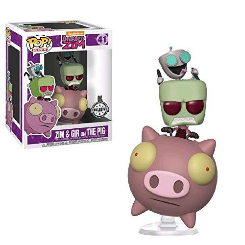 Funko Pop! Paseos # 41 Invader Zim: Zim y Gir en The Pig