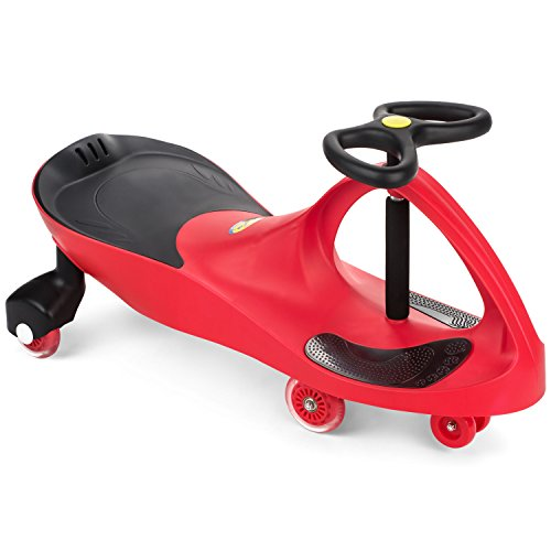The Original PlasmaCar by PlaSmart Inc.  Polyurethane PU Wheels  Red, Ride On Toy, Ages 3 yrs and up  No batteries, gears, or pedals, Twist, Turn, Wiggle for endless fun