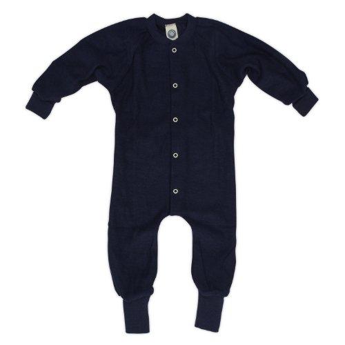 Cosilana Schlafanzug/Overall ohne Fuß, Größe 74, Farbe Marine aus 100% Schurwolle kbT