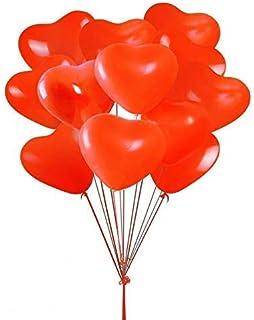 بالونات حفلات على شكل قلب من اللاتكس على شكل قلب مقاس 25.4 سم، رائعة لعيد الحب، وحفلات الخطوبة، والزفاف، وحفلة استقبال الم...