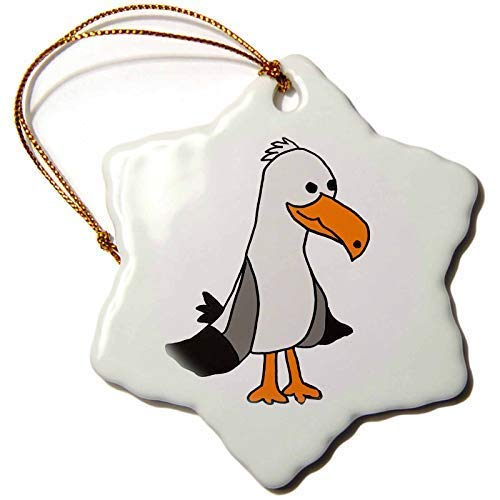 Dant454ty Unique Seagull Beach Cartoon Christmas Ornaments for the Home 2019 for Women Friends Kids Christmas Tree Ornament