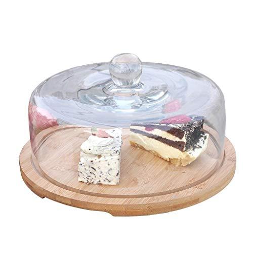 pl/ástico Tarta con pie para Tartas Juego para Caramelos kuchenn 20/Pieza Azul, Rosa, Transparente, Golden, Plata OUNONA Campana de Cristal