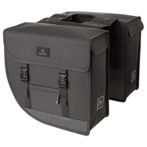 FastRider Hybrid Doppel Pannier, Radtaschen, Fahrradtasche | 26 Liter | Grau