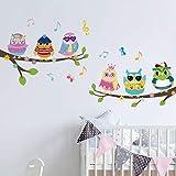 onetoze Pegatinas de Pared Infantil Búhos y Árbol Vinilos Decorativos Habitacion Niñas Bebés Infantiles Niños Guardería Dormitorio, 105x130cm