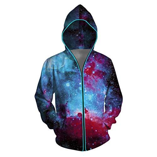 RANTA 2019 Sales Couple LED Leuchtend Jacke Mit Kapuzen und Reißverschluss Slim Fit Outdoor Sports Reflektierende Clubwear-Jacke...