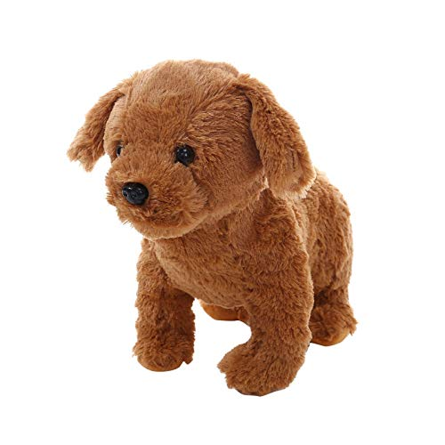AOJIAN Realistic Teddy Dog Lucky, Dog Stuffed Animal Plush Puppy Handmade Realistic Figure Toy (A Brown 2)