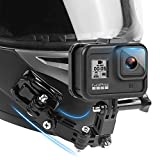 Motorcycle Helmet Chin Mount Kits for GoPro Hero 4 5 6 7 8 Black/YI Action Camera,and Other Action Camera.with Adhesive Pads and J Hook Mount Bracket.
