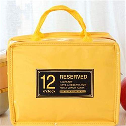 Yun-hangbaihuodian 23 X 18 X 12 cm Mittagessen Bento Tasche Picknick-Beutel-Aluminiumfolie Isolations Bag Kühl Eisbeutel Female Tragbarer Cosmetic Bag (Color : Yellow)